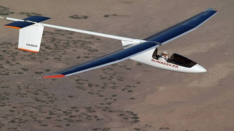 Solar Powered aircraft working
